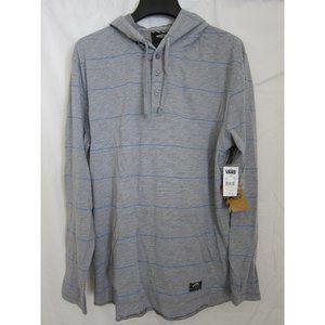 Vans - Grey Horizontal Stripe Hoodie - XL